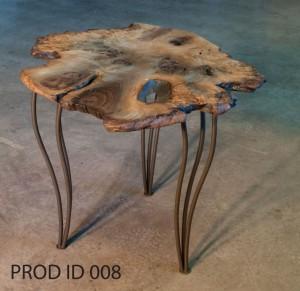 Walnut Burl Side Table