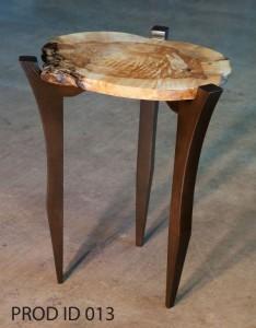 Figured Elm Side Table