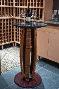 Barrel Stave Tasting Table