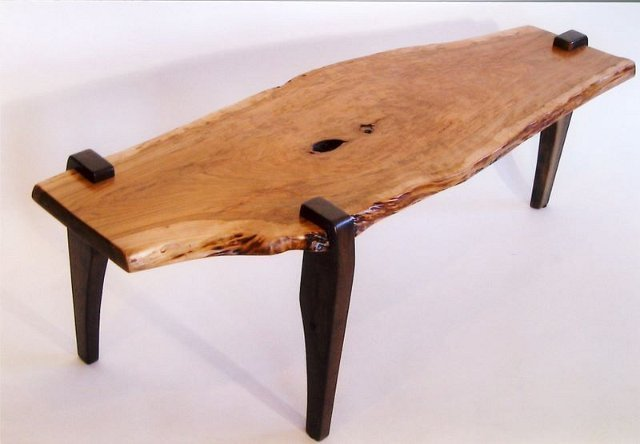 Cherry Coffee Table With Walnut Legs