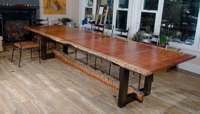 Bubinga Table with Natural Edge Matching Stretcher : bubinga raildining table from www.koleticdesigns.com size 640 x 365 jpeg 66kB
