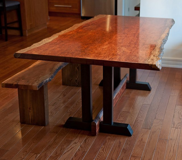Bubinga Dining Table With Frenchmans Cove Inspired Base