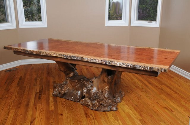 Bubinga Dining Table with Buckeye Root Burl Base : bubingadiningtablewithbuckeyerootburlbase from www.koleticdesigns.com size 640 x 424 jpeg 55kB