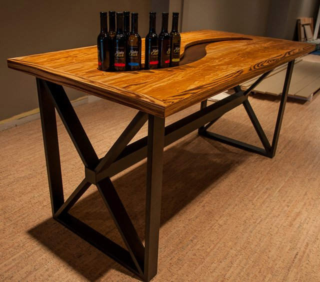 Olive Wood Olive Oil Display Table